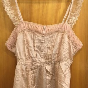 Beautiful Lacey Pink Victorian Top, 2X, Plus Size